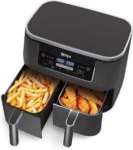 Ninja DZ201 Foodi 6-in-1 2-Basket Air Fryer with DualZone Technology