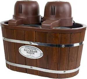 Nostalgia Double Flavor Electric Bucket Ice Cream Maker