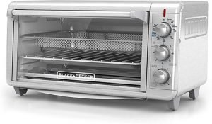 BLACK + DECKER TO3265XSSD Extra Wide Crisp 'N Bake Air Fry Toaster Oven