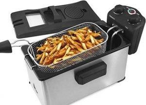 Elite Gourmet EDF-3500 Stainless-Steel Triple Basket Electric Deep Fryer