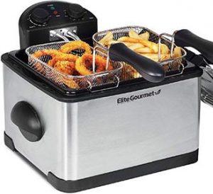 Elite Gourmet Triple-Basket Deep Fryer