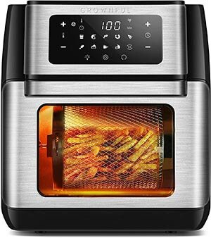 CROWNFUL 9-in-1 Air Fryer Toaster Oven 10.6 Quart
