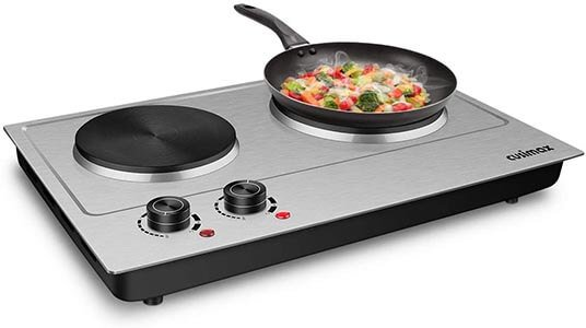 CUSIMAX 1800W Double Hot Plate Upgraded Version C180N