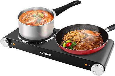 CUSIMAX 1800W Double Hot Plates Upgraded Version