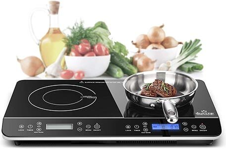Duxtop LCD Portable Double Induction Cooktop