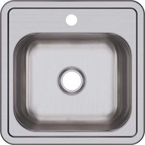 Elkay D115151 Dayton Single Bowl Drop-in Stainless Steel Bar Sink