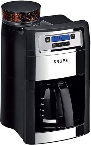 KRUPS Grind and Brew Auto-Start Maker with Built-in Burr Coffee Grinder