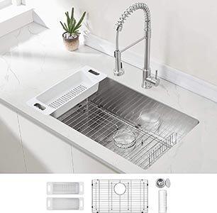 Modena Undermount Kitchen Stainless Steel Sinks