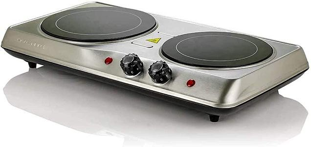 Ovente 1700W Double Hot Plate