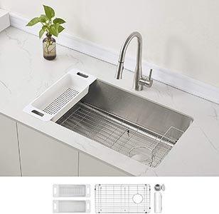 ZUHNE Stainless Steel Single Bowl Kitchen Sink